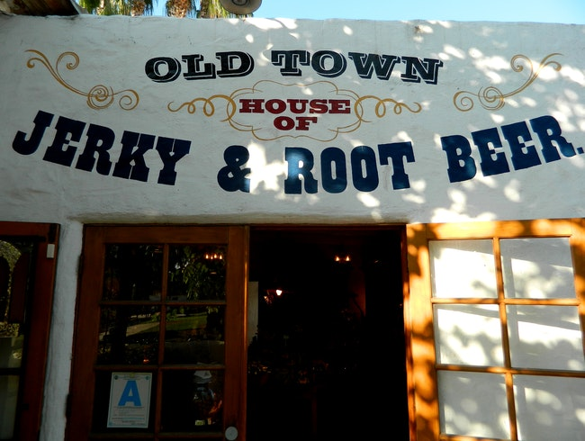 Root beer, soda and jerky in Old Town