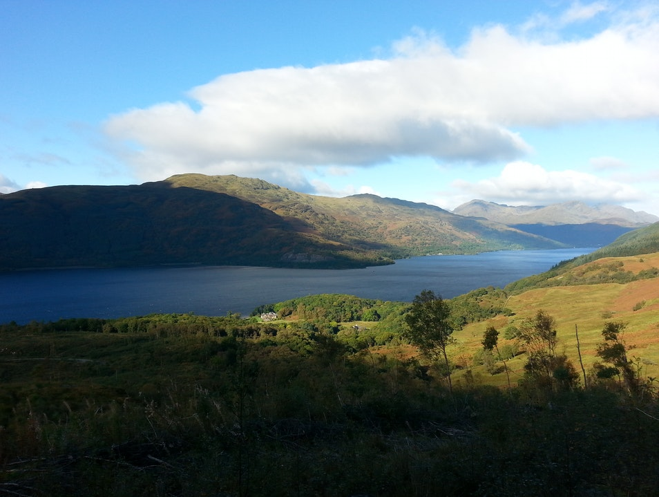 Enjoying the views on the banks of Loch Lomond Argyll and Bute  United Kingdom