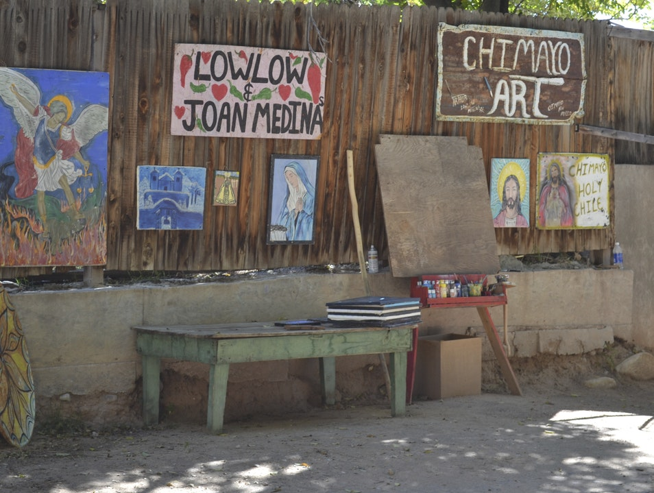 A Veteran Lowrider Artist Displays His Wares Chimayo New Mexico United States