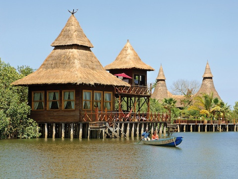 Overwater Bungalows: The Mandina Lodges, Gambia Gunjur  The Gambia