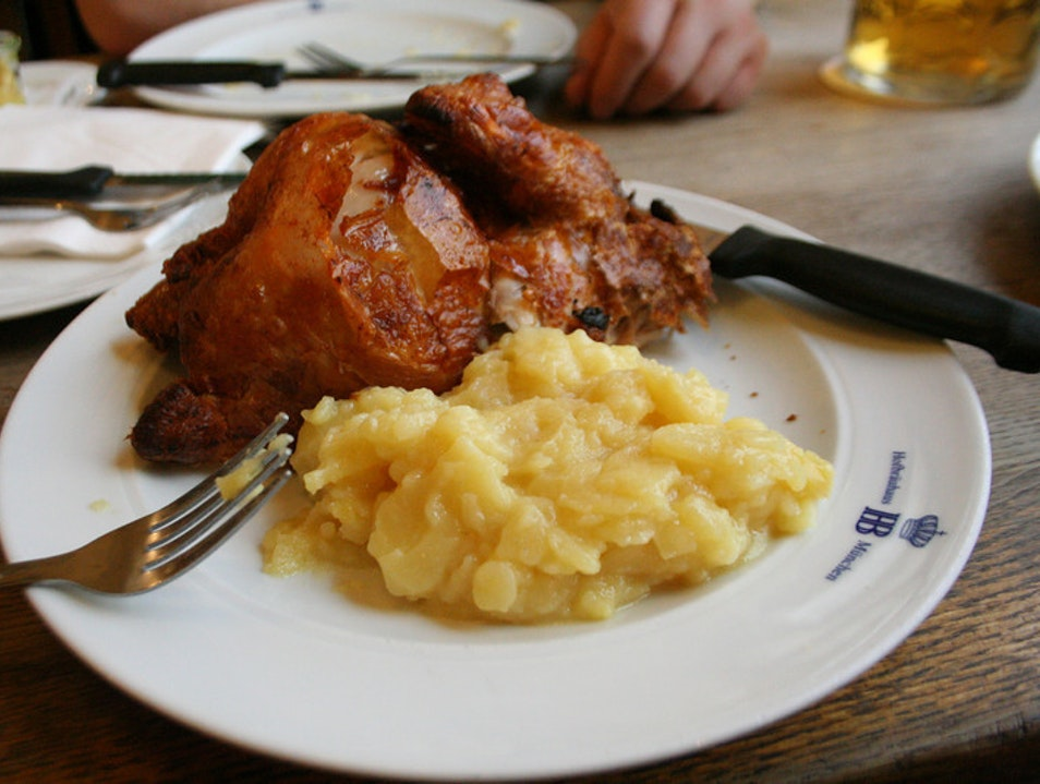 Hofbrauhaus:  Don't Forget to Eat As Well! Munich  Germany