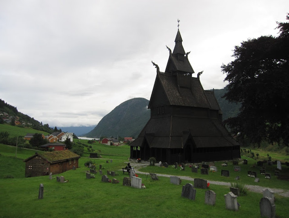 Stave Churches in Norway Aurland  Norway
