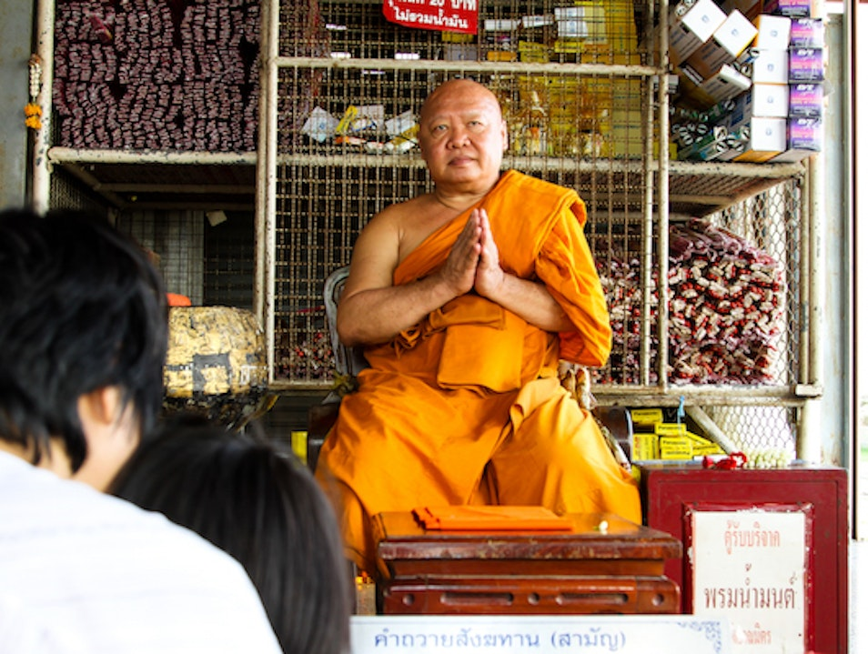 The Buddhist Monks of Wat Kalayanamit Bangkok  Thailand