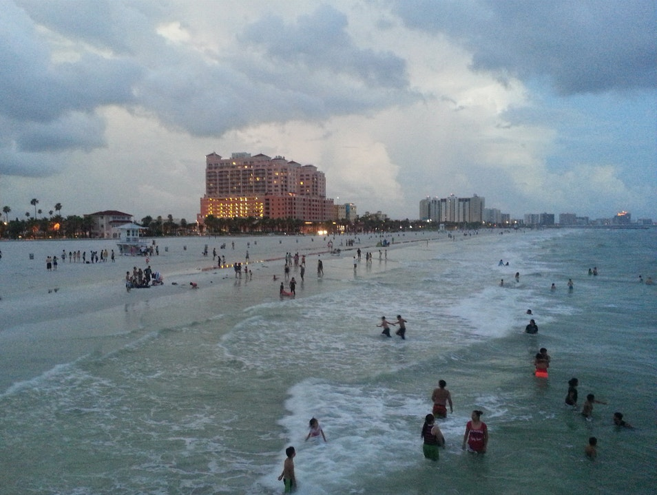 Clearwater Beach near Pier 60 in the evening Clearwater Florida United States
