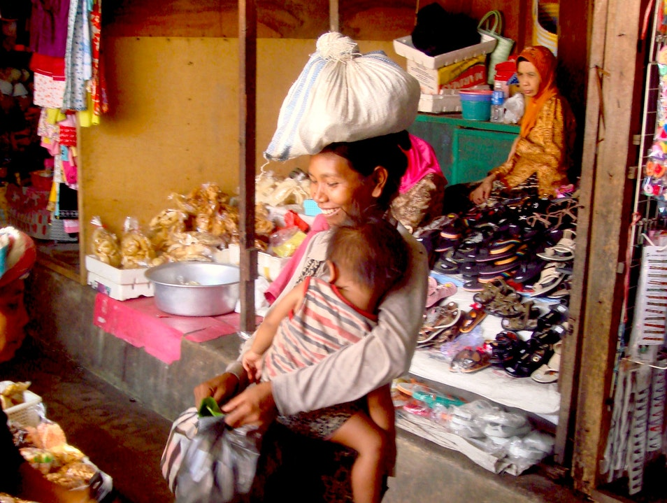 Soul of a Women, at the market Marga  Indonesia