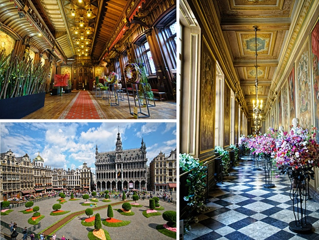 Floral Elegance Inside Stunning Brussels City Hall