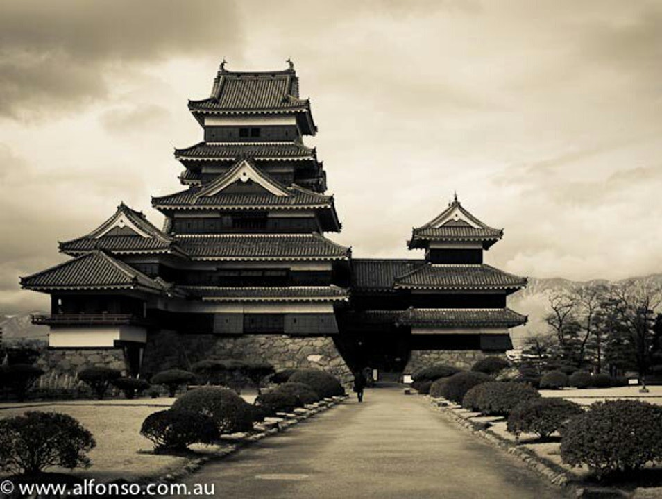 The castle Matsumoto  Japan