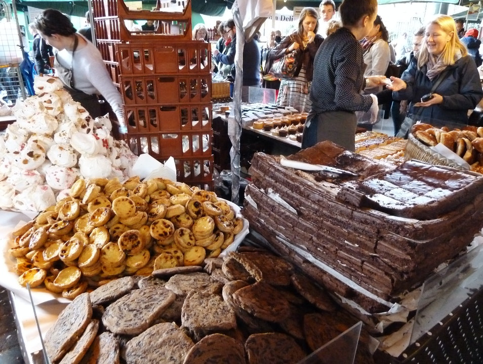 Tasty Pastries at Borough Market London  United Kingdom