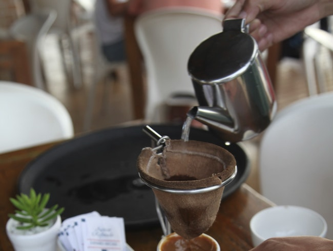 The perfect cup of coffee after a day of snorkeling