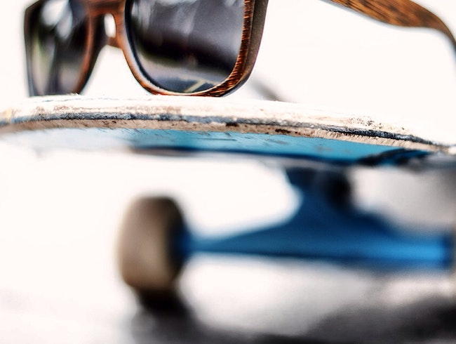 grab sustainable sunglasses, skateboard and organic dinner!