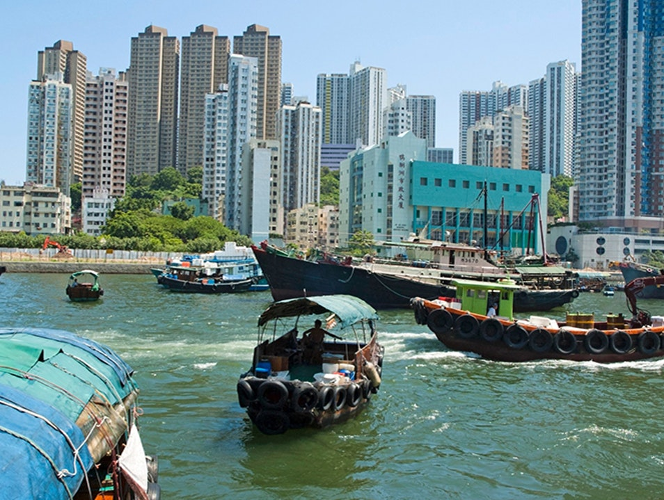 Traditional Sampans and Junks Hong Kong  Hong Kong