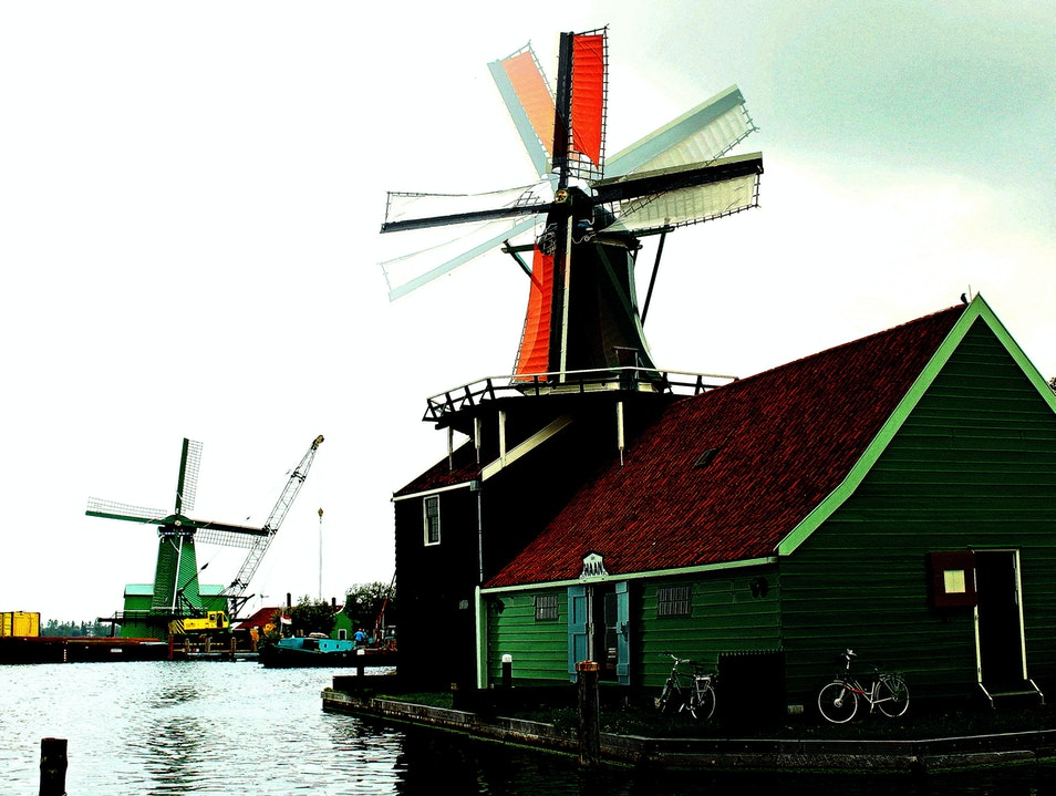 A Windmill Transformed into a Working Oil Mill Zaandam  The Netherlands