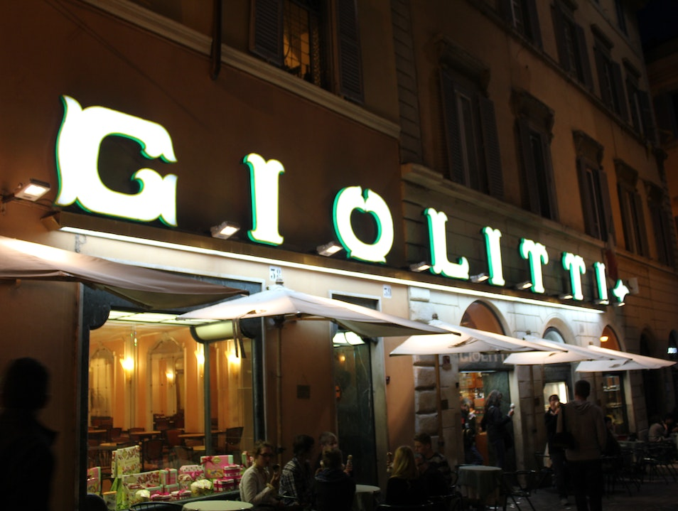 Gelato at the famous Giolitti's Rome  Italy