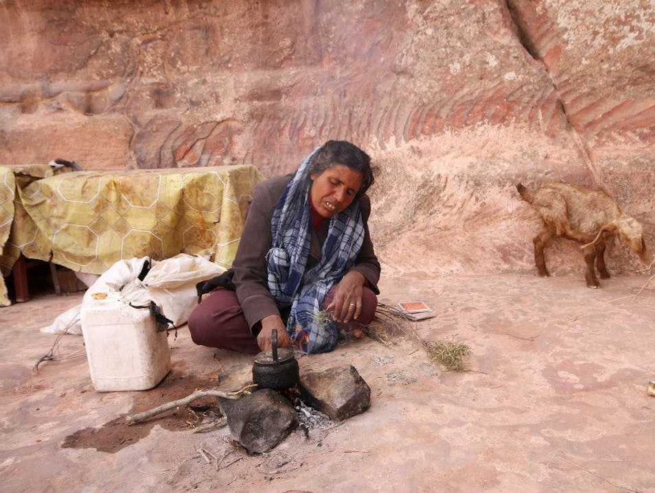 Sharing tea with the Bedouin