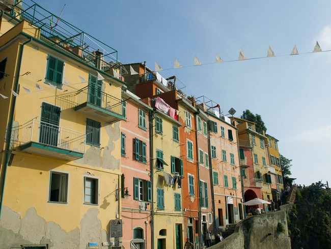 The beautiful colour houses of Riomaggiore