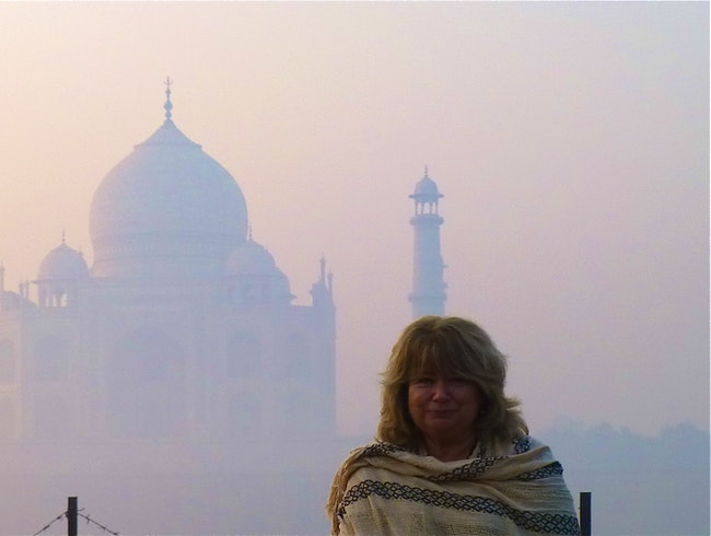 Dawn at the Taj Mahal