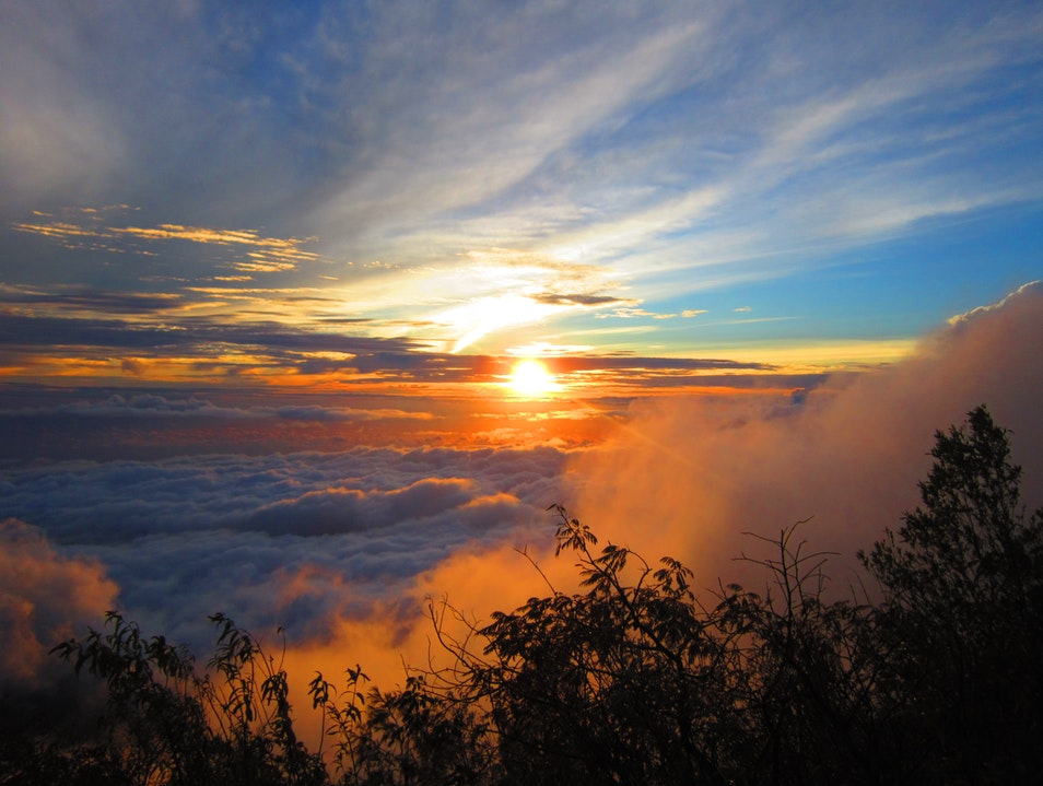 Trekking up Gunung Agung at Sunrise
