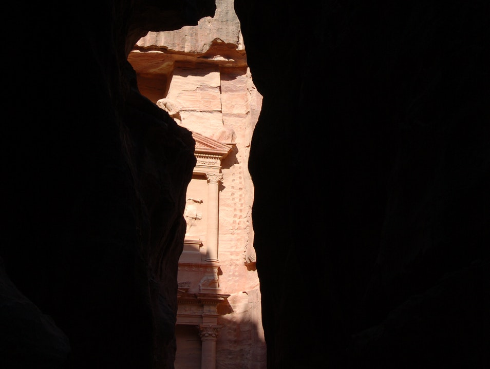 The first peak at Petra Ma'an  Jordan