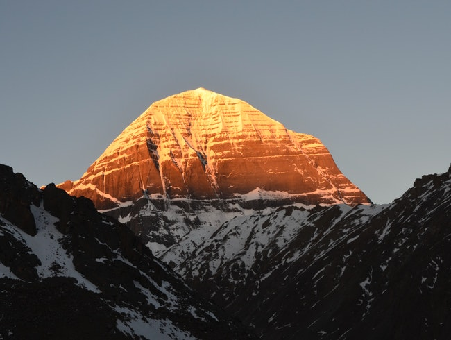 the Sunrise of Mt.Kailash