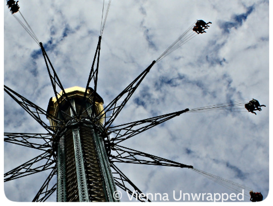 A Ride on the World's Highest Chain Carousel Vienna  Austria