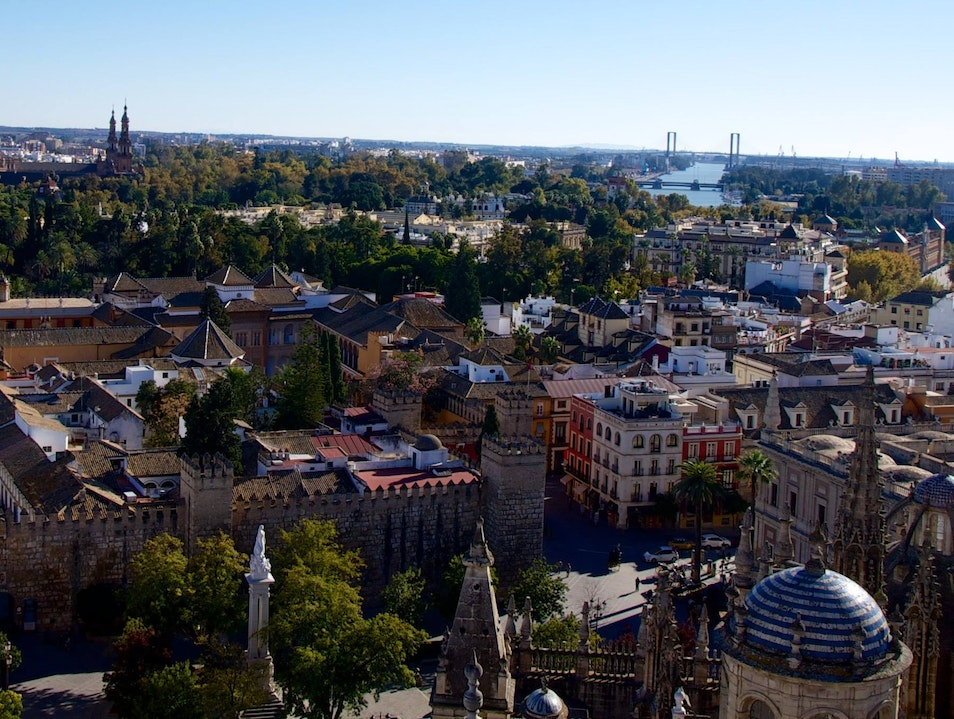 Best Seville City Views from Giralda Tower Seville  Spain