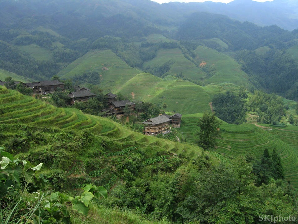 Folded Hills of Longsheng Guilin  China