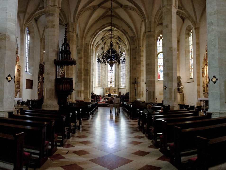 The interior of St. Martin's Cathedral