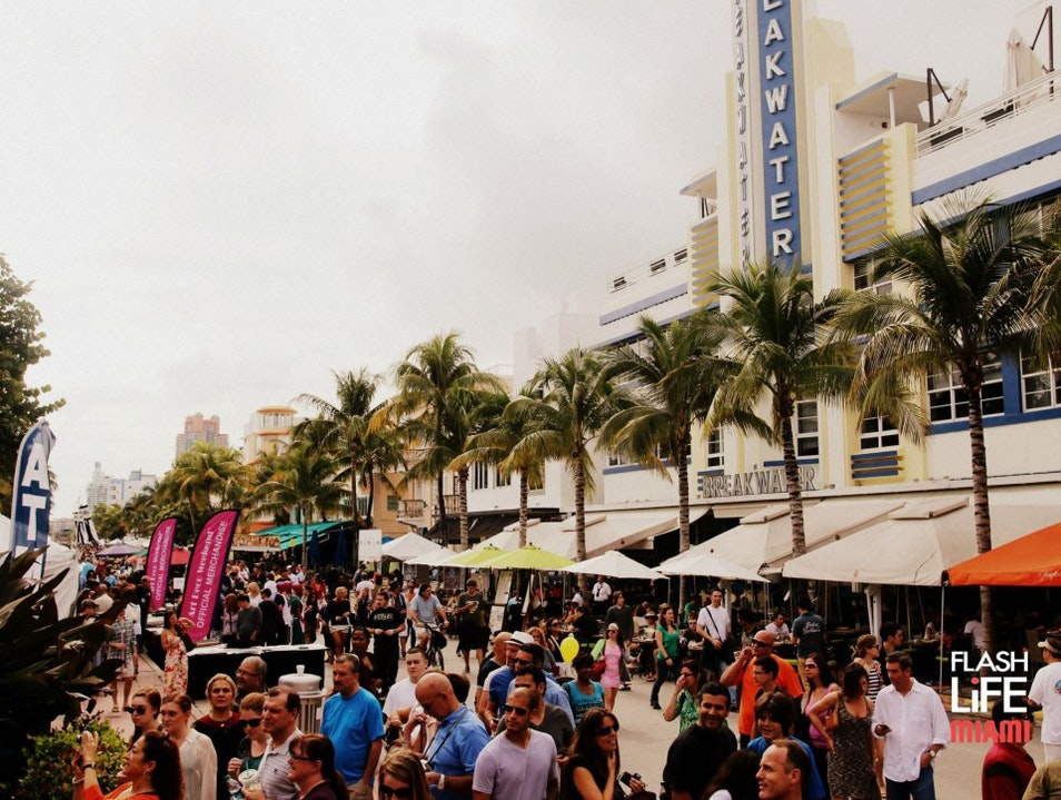 The South Beach Strip Miami Beach Florida United States
