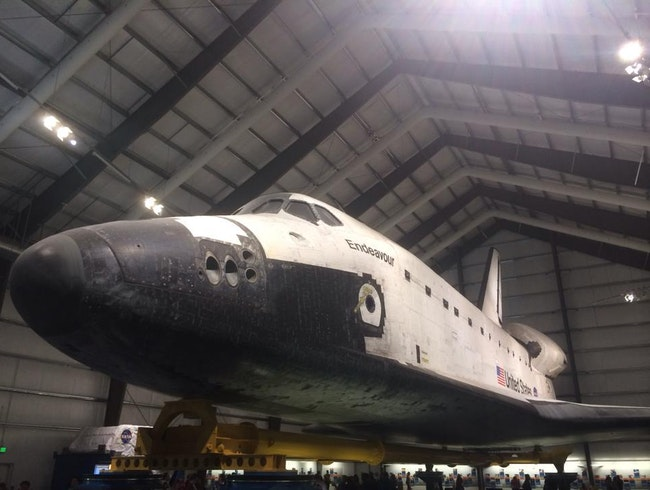 See the Space Shuttle Endeavour