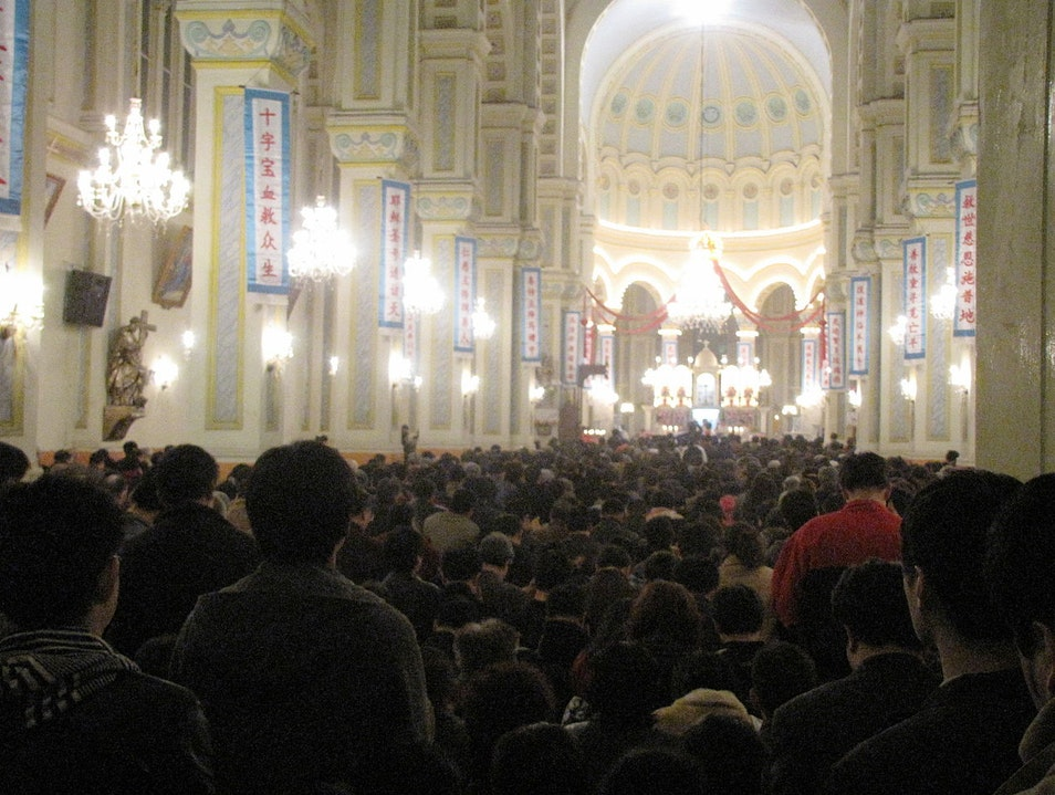 Attend Chinese Mass in a Roman-Style French Catholic Cathedral  Tianjin  China