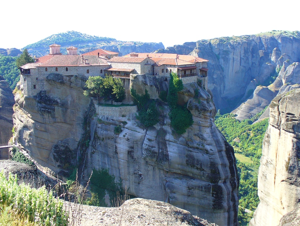 Amazing monasteries built upon cliffs  Kalabaka  Greece