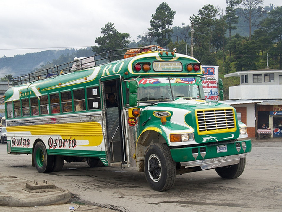 "Get a Photo of a ""Chicken Bus"" Guatemala City  Guatemala"