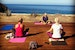 Yoga overlooking the whales journey north