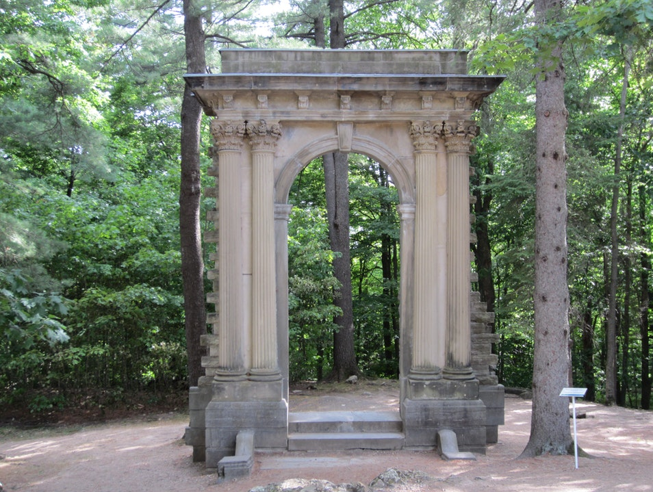 Arc de Triomphe in a Canadian forest grove Chelsea  Canada