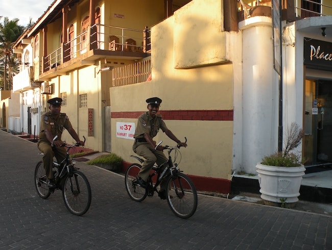 Biking in Galle Fort