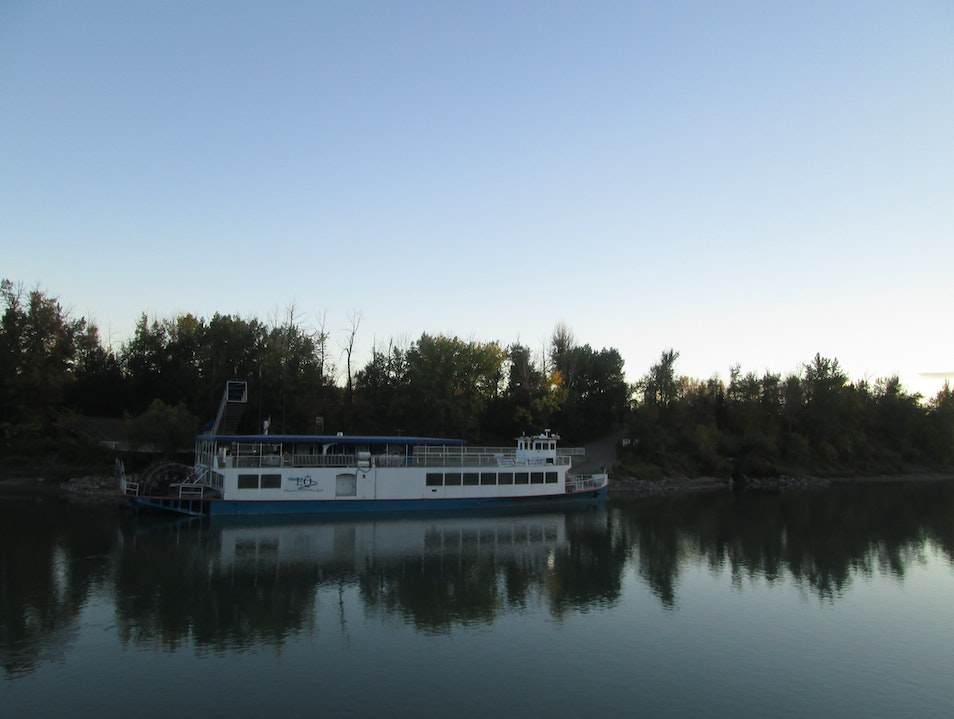 Cruising Down the North Saskatchewan River on the Edmonton Riverboat   Canada