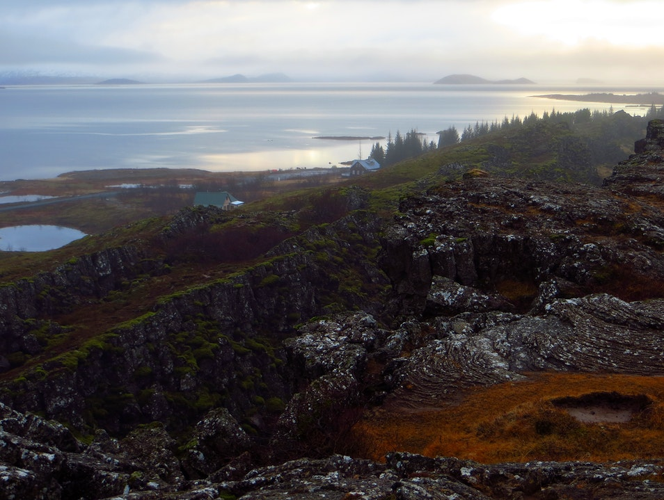 Rift of the continental drift between the North American and Eurasian Plates Southern Region  Iceland