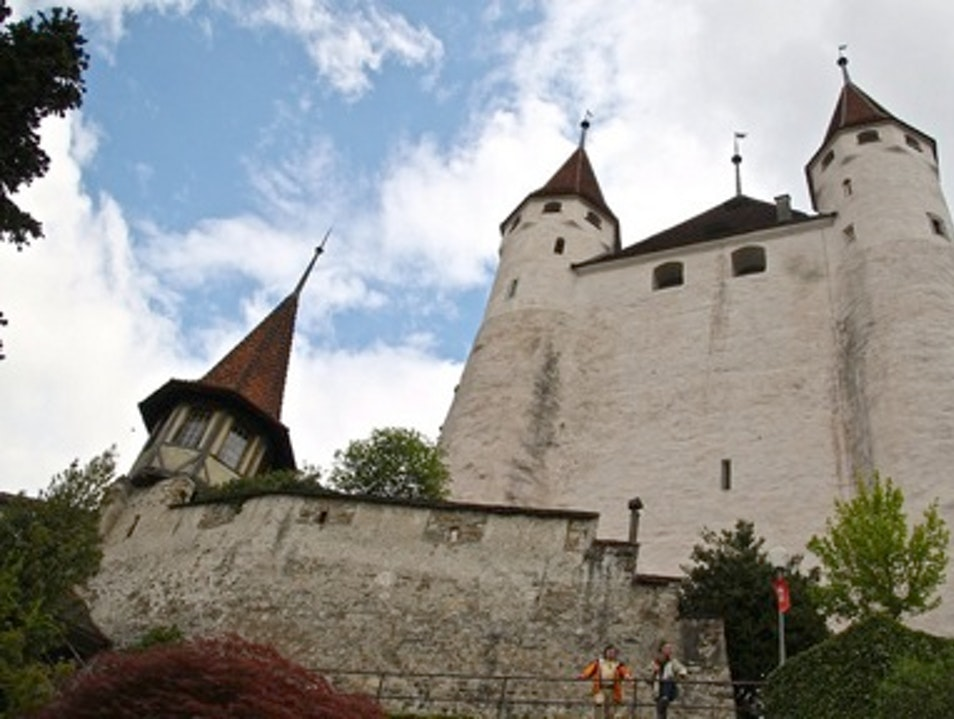 Interlaken's Towering Thun Castle Thun  Switzerland