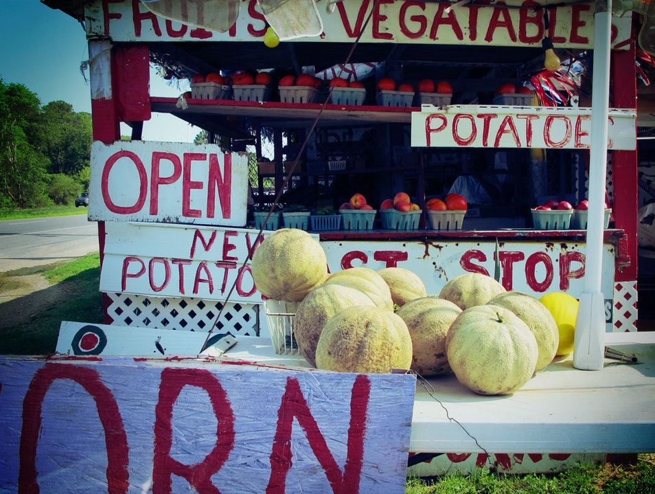 Produce Stand Cape Charles Virginia United States