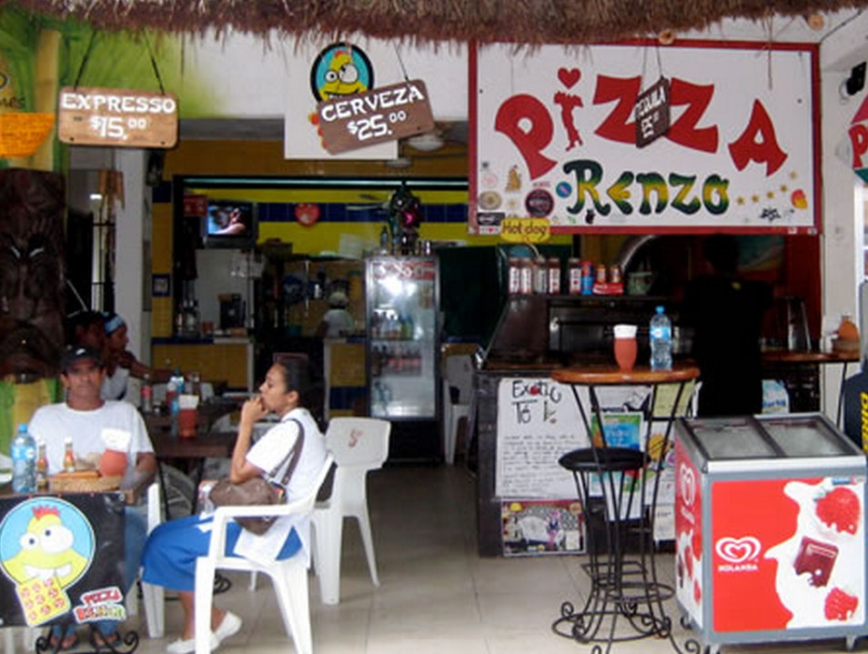 Delicious, Hearty Pizza by the Slice Playa Del Carmen  Mexico