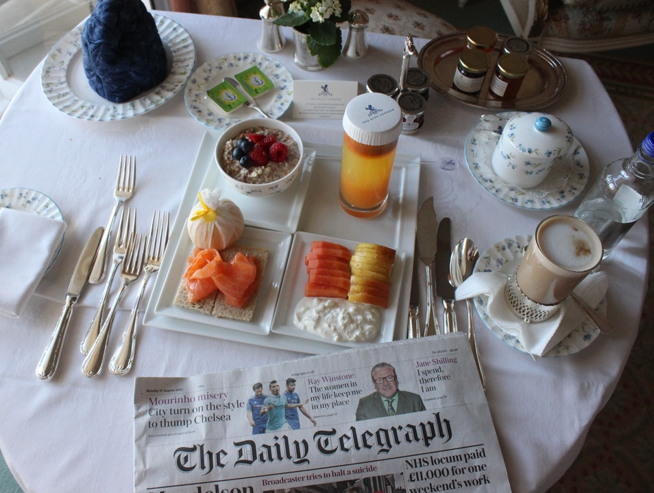 Breakfast in Bed at The Ritz London  United Kingdom