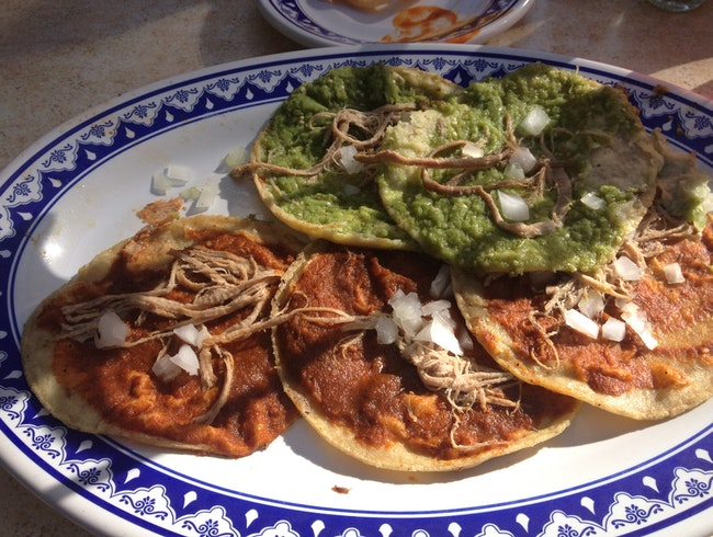 Best chalupas and mole in Puebla