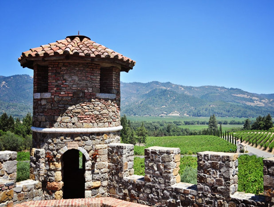 Wine Tasting at a California Castle Calistoga California United States