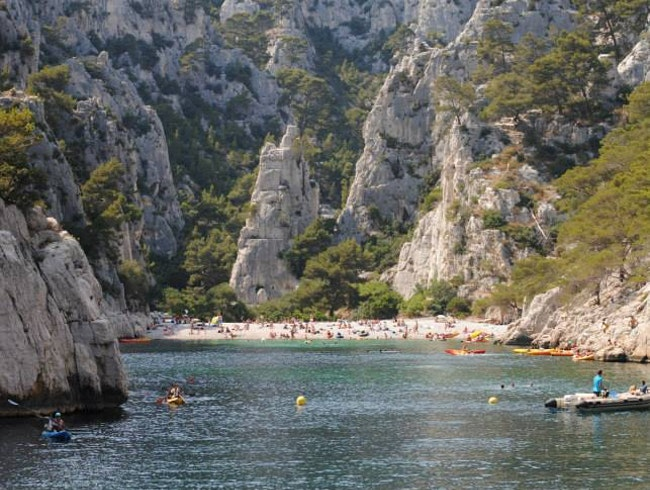 Floating by the Calanque d'En-Vau