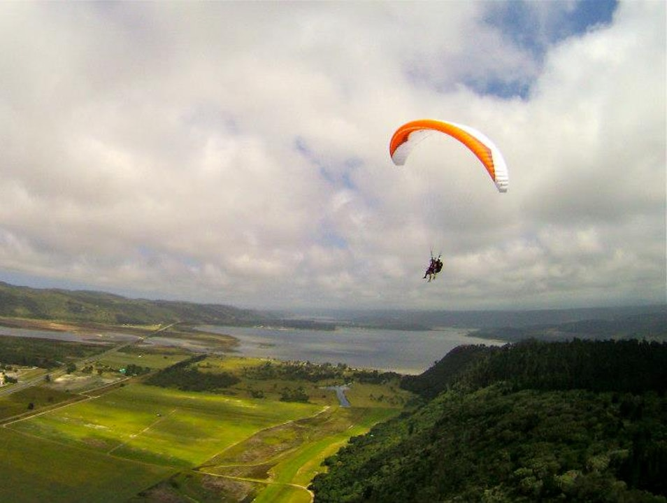 Paragliding along the Garden Route Wilderness  South Africa