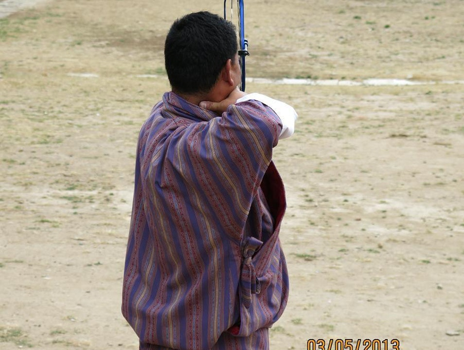 """Playing Archery"" in Bhutan Thimphu  Bhutan"