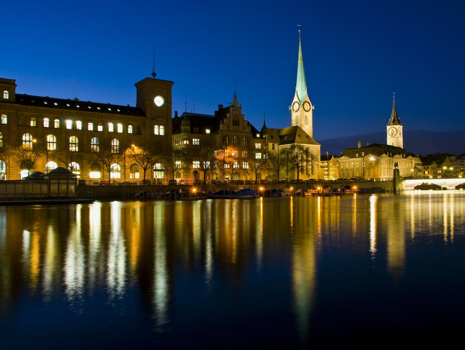 Night Tour of Grossmünster Zurich  Switzerland