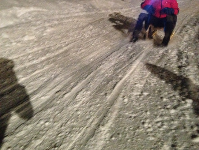 Sled Home From Dinner
