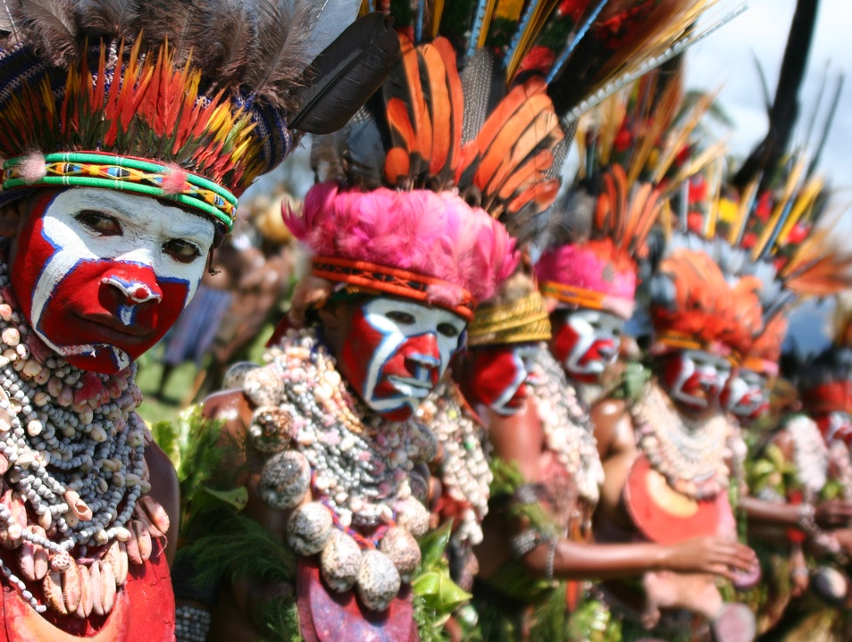 Going Tribal in Papua New Guinea Western Highlands Province  Papua New Guinea