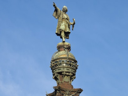 Statue of Columbus Barcelona  Spain